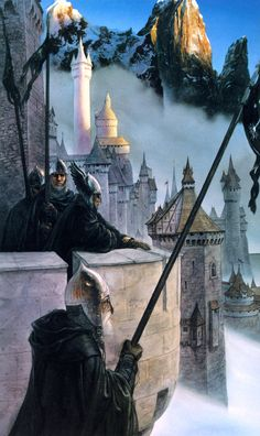 Guards at Minas Tirith. The same illustration I've had on my first LOTR book