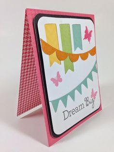 Courtney Lane Designs: Close To My Heart Artfully Sent Cricut cartridge Banner Wish card