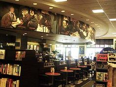 "West Chester home owners enjoy popular #shopping destinations like ""The Streets of West Chester"". Considered to be the Cincinnati area's newest premier, upscale mall, this fabulous mega-venue of fine stores, fine dining and theater is located just off the Union Center exit. In house at the mall are other favorite retailers including Barnes & Noble (which has seating and Starbuck's Coffee, shown here), Panera Bread, and PF Chang's.  http://www.ohiohomesandrealestate.com/west-chester.php"