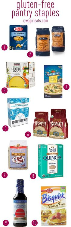 My favorite gluten-free products including snacks, pantry staples, and meats! #glutenfree   iowagirleats.com
