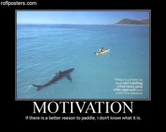 MOTIVATION: if there is a better reason to paddle, I don't know what it is.Alpha Dawg says  I believe this would get my attention.