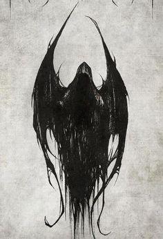 Bildergebnis für nyarlathotep s ben qayin - Grim - Art Dark Drawings, Tattoo Drawings, Body Art Tattoos, Dark Art Tattoo, Tatoos, Grim Reaper Art, Grim Reaper Tattoo, Dark Fantasy Art, Fenrir Tattoo