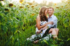 COUPLE SUNFLOWER PICTURES | Jennifer & Alan are getting married this Saturday. It's going to be ...