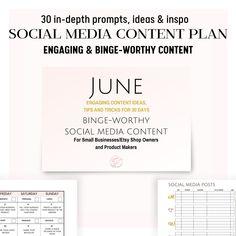 Top Social Media, Social Media Calendar, Social Media Content, Social Media Marketing, Calendar Organization, Business Planner, Blog Planner, Printables, Tools