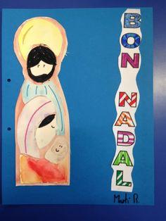 TAPES D'ALBUM NADAL - Material: paper, colors, tisores, cola - Nivell: CS 5PRIM 2015/16 Escola Pia Balmes