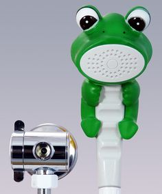 Green Froggie the Frog Shower Wand