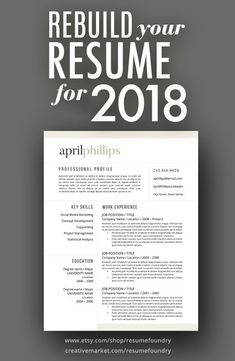 Resumes are one of the most important documents you will ever produce - as they can change the direction of your life. We provide professional resume designs to help you on your path. Visit Resume Foundry on Etsy.