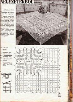 Kira scheme crochet: Scheme crochet no. Crochet Tablecloth Pattern, Crochet Snowflake Pattern, Granny Square Crochet Pattern, Crochet Stitches Patterns, Crochet Diagram, Crochet Chart, Crochet Squares, Crochet Granny, Filet Crochet