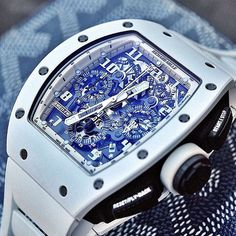 ! Show your Love for Watches ! sur Instagram: Killer sexy Richard Mille #RM011 white ghost limited edition  cc: @youcanneverhaveenough | #LoveWatches