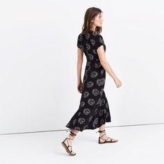 Silk Moonshade Maxi Dress in Palmflower : dresses & skirts   Madewell