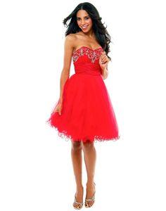 Sweetheart Beading Ruffles A-line Prom Dress