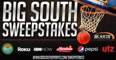 Win a big-screen 4K Ultra HDTV on Big South Sports - 2017 Basketball Sweepstakes