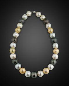 Multi-Color South Sea Pearl Necklace ~ M.S. Rau Antiques