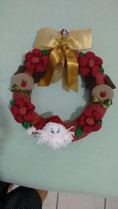 Guirlanda Papai Noel e renas