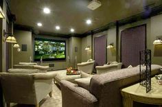 basement theater  T you could do this for your media room