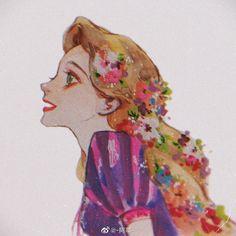 Disney Princess Jasmine, Disney Princess Art, Disney Fan Art, Disney And Dreamworks, Disney Pixar, Rapunzel Characters, Character Art, Character Design, Arte Disney