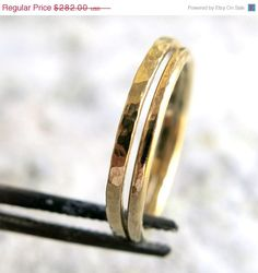 Hey, I found this really awesome Etsy listing at https://www.etsy.com/listing/166823327/14k-gold-stacking-rings-two-wedding