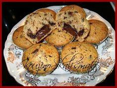 Muffins με γέμιση σοκολάταsΚουζινοΣκαλίσματα: