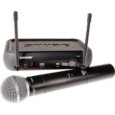 The Shure PGX24/SM58 Hand-Held Wireless System delivers unmatched performance and ease of use to anyone looking to step up to wireless. The PGX4 receiver has features like Automatic Frequency Selection and Automatic Transmitter Setup that get you up and running, hassle-free. Shure's patented Audio Reference Companding delivers crystal-clear sound beyond the limits of conventional wireless technology.