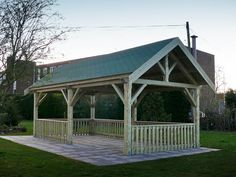 outdoor   shelters used for gazebo made with logs | Tudor Shelter - A Large Gazebo For Schools