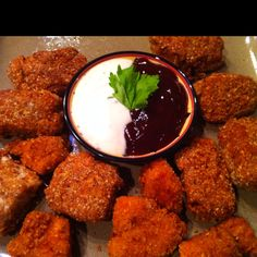 Low carb - almond Parmesan crusted chicken nuggets   www.peaceloveandlowcarb.com