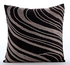 Designer Brown Pillow Cases, Sequins Swirls Pillows Cover... https://www.amazon.com/dp/B016H8WEW0/ref=cm_sw_r_pi_dp_x_ZBlbyb0ZNNR3H