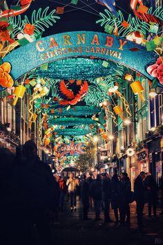 Carnaby Street at Christmas. London, UK