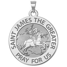 PicturesOnGold.com Saint James the Greater Religious Medal 10K And14K Yellow or White Gold, or Sterling Silver