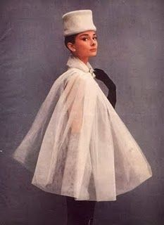 Audrey Hepburn in white.