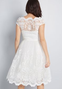 Chi Chi London Chi Chi London Exquisite Elegance Lace Dress in White White Layered Wedding Dresses, Tea Length Wedding Dress, Tea Length Dresses, Wedding Dress Sleeves, Dream Wedding Dresses, Wedding Gowns, Short Lace Wedding Dress, White Floral Dress, Floral Maxi Dress