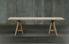 Table TRESTLE - oak cross laminated