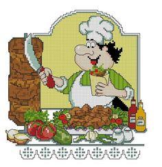 chef cross stitch