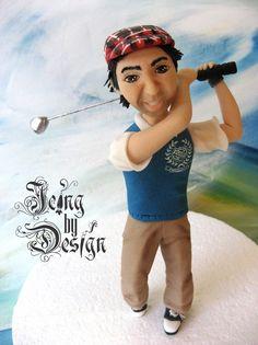 Golfer Icing figurine topper