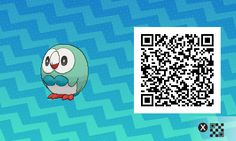 Shiny Rowlet with QR code