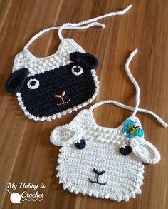 Little Lamb Baby Bib Crochet Pattern (FREE) - http://pinterest.com/Allcrochet