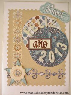 www.manualidadesytendencias.com Scrapbooking: tarjeta navideña / Christmas card