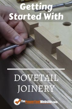 Learn about dovetail joints for your woodworking projects. It's a mark of true craftsmanship, and doesn't have to be that difficult. | The Power Tool Website | #dovetailjoints #dovetailjoinery Woodworking Joints, Learn Woodworking, Woodworking Techniques, Easy Woodworking Projects, Woodworking Plans, Wood Projects That Sell, Easy Wood Projects, Diy Your Furniture, Tool Website