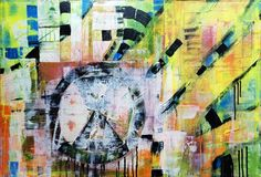"""Saatchi Art is pleased to offer the painting, """"Not a Drill,"""" by Michele Tragakiss. Original Painting: Acrylic, glitter on Canvas. Size is 0 H x 0 W x 0 in. Glitter On Canvas, Species Extinction, Abstract Styles, Drill, Saatchi Art, Original Paintings, Vibrant, Ink, Art Prints"""
