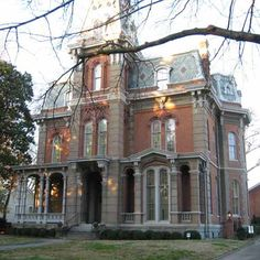 "Woodruff-Fontaine House, Memphis Tn. French Victorian mansion was built in 1870 along ""Millionaires Row."""