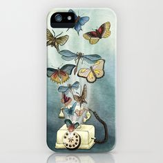 Flying Things & A Vintage Phone iPhone & iPod Case by Whimsy Milieu - $35.00