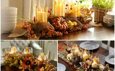 Google+ Distintas decoraciones con velas.