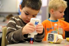 Preschooler Jonathan De LaRosa, 4, completes a craft project Jan. 30 at Stetson Elementary School in Falcon School District 49. The inclusion classroom offers individualized attention, recognizing that each student is starting his or her academic career with unique learning needs. District 49's preschool roundup takes place Feb. 7 at Remington Elementary School. The Falcon Early Childhood Center will screen children aged 3 and 4 years (or 3 by Aug. 1) in the school's gymnasium.