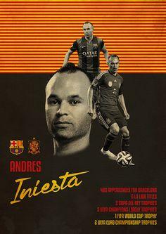 Andres Iniesta Spain Barcelona Poster