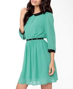 Pintucked Collar Dress | FOREVER 21 - 2031556806