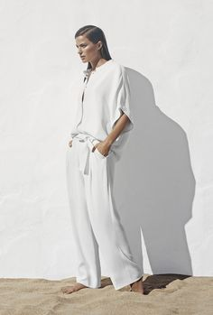 flawy white on white look #summer #vacation #style #fashion