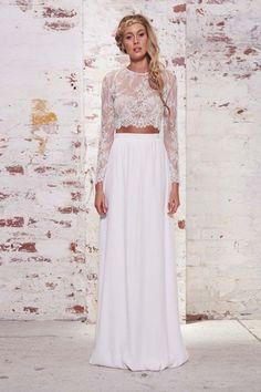 Full Swing Glam White Maxi Skirt