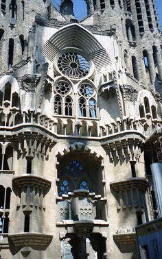 Facade, Gaudi Sagrada Familia, Barcelona, Spain by David, via Flickr