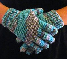 The Loom Muse : How to Loom Knit Gloves Round Loom