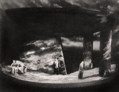 """ Götterdämmerung "" 1.Aufzug 1,Bild 1960 Wolfgang Wagner Bühnenphoto"