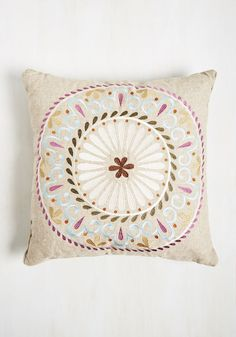 Rustic Revival Pillow. By displaying this burlap-inspired pillow, theres nothing shabby about your chic flat. #tan #modcloth